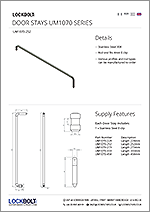 Door Stays - Stainless Steel - UM1070 - Data Sheet