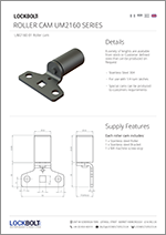 Roller Cams - Stainless Steel - UM2160 - Data Sheet